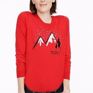 J. Crew red Chamonix Tippi Sweater scoop neck XL